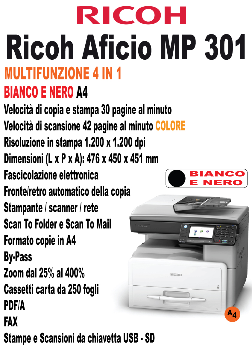 Ricoh Aficio MP 301